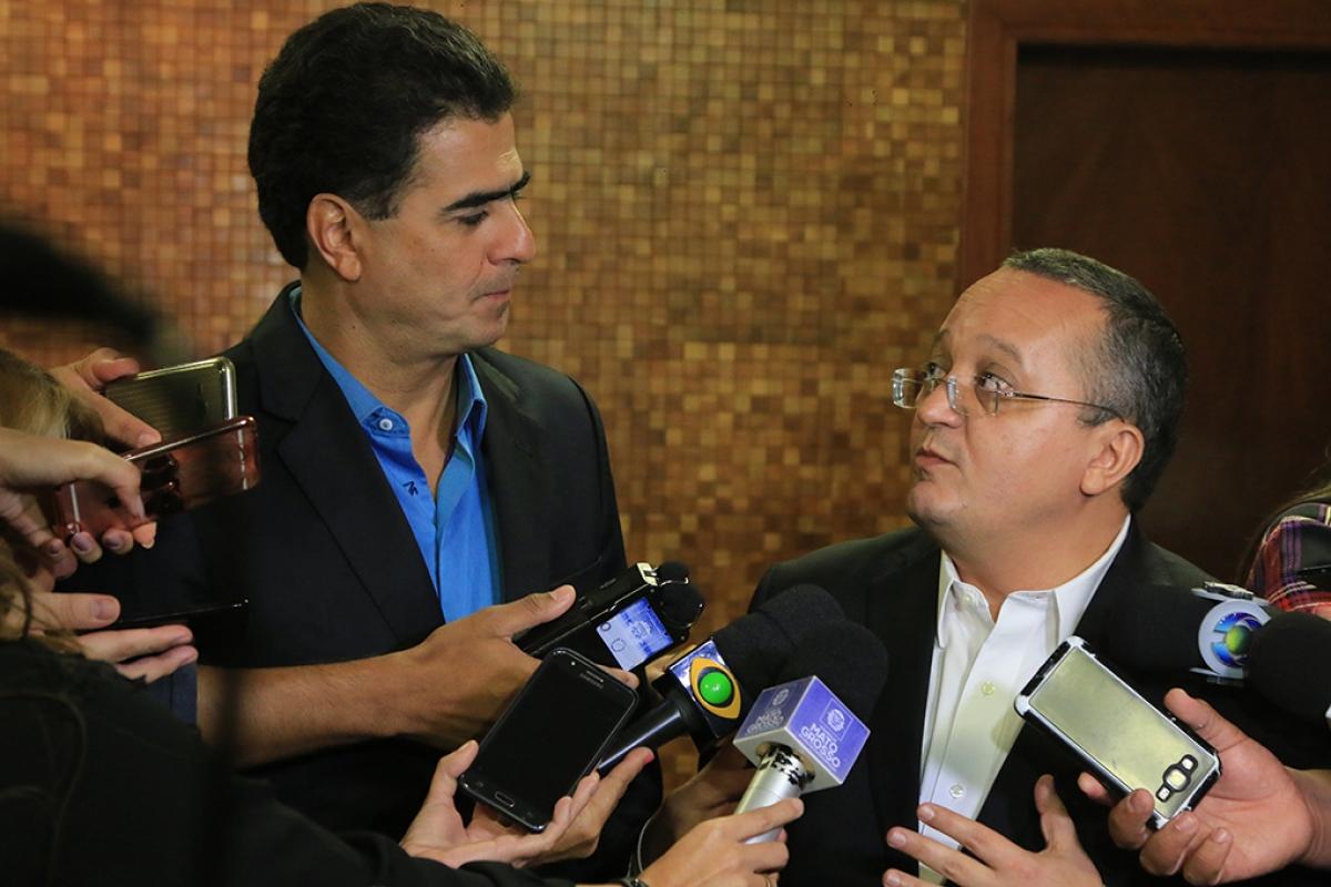 Emanuel Pinheiro e Pedro Taques