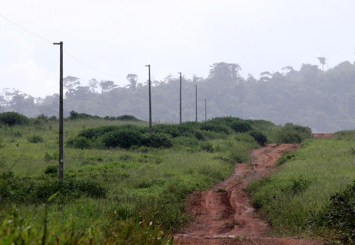 Postes de energia elétrica foram instalados na área da Paredão, dentro de unidade de conservação - Ednilson Aguiar/O Livre