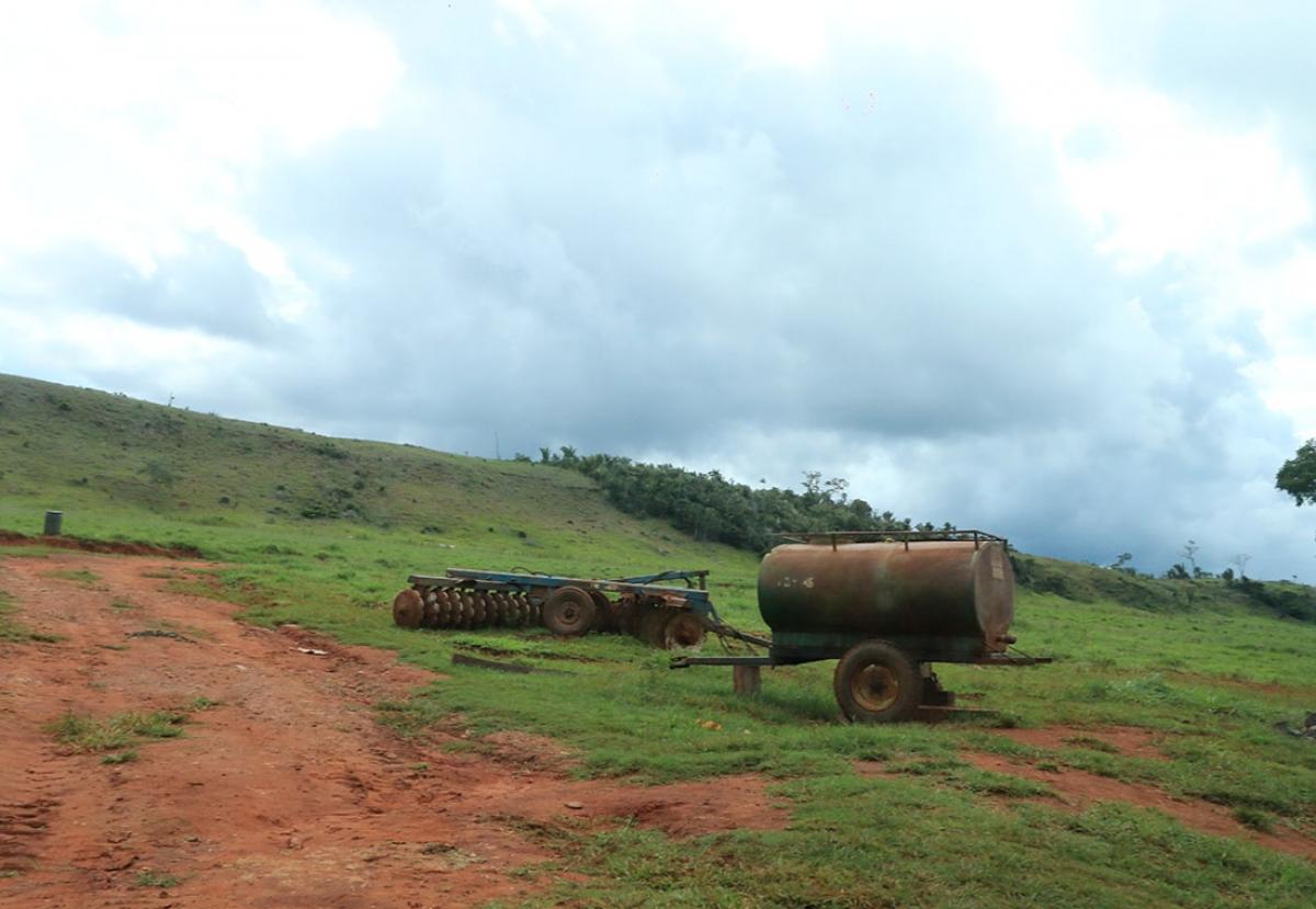 Equipamentos usados na fazenda do ministro Padilha - Ednilson Aguiar/O Livre
