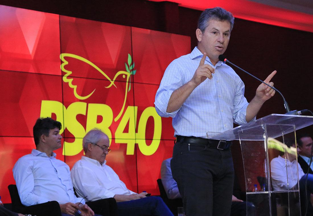 Mauro Mendes, encontro do PSB