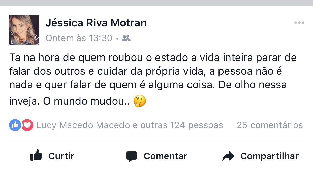 Jéssica Riva no Facebook