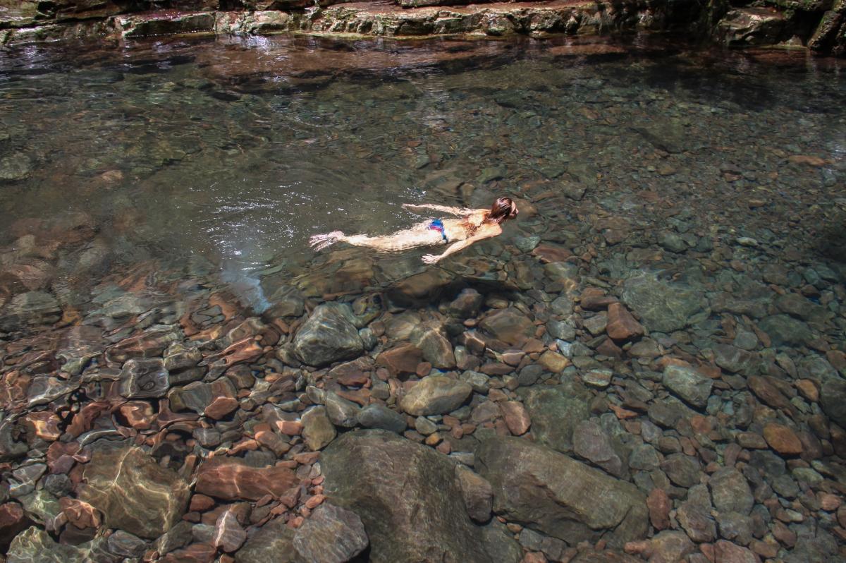 Rio no Parque Serra de Ricardo Franco, em Vila Bela da Santíssima Trindade - Luzia Abich/Amigos de Trilhas