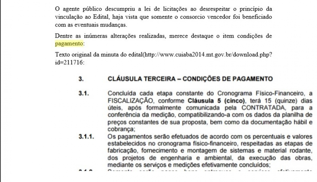 CPI mostra minuta do contrato do VLT antes da licitação -