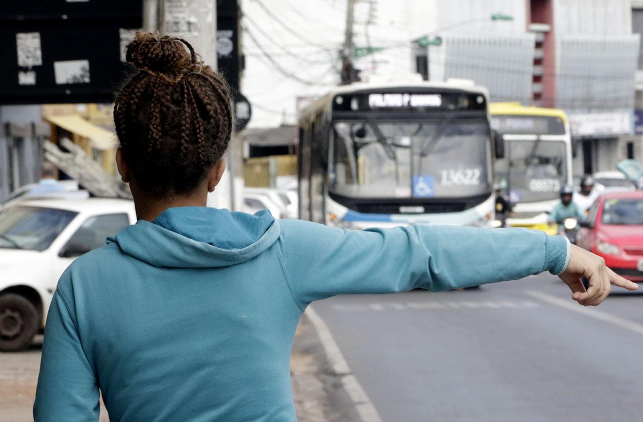 ônibus do transporte coletivo