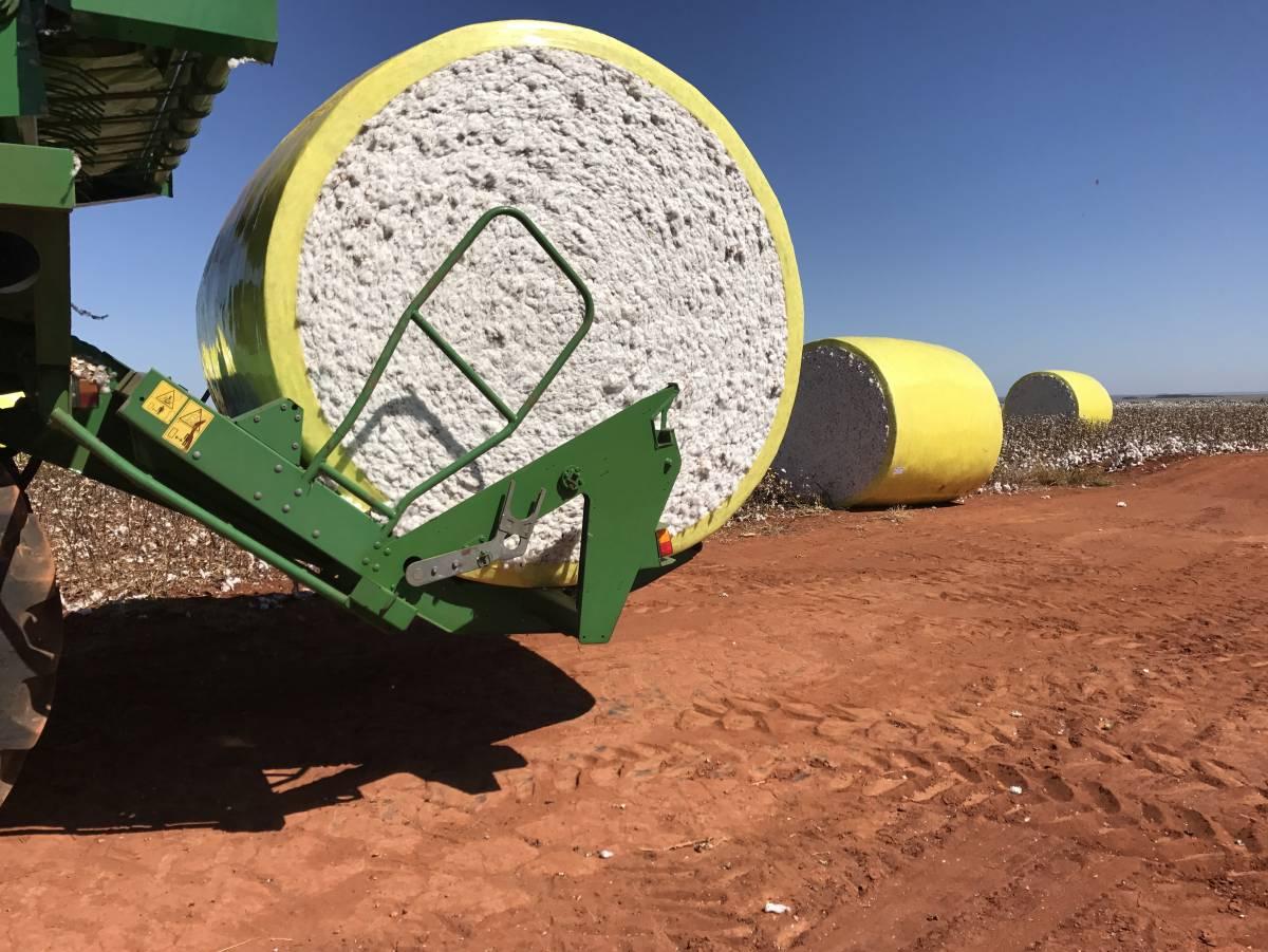 Os fardos são depositados um a um, de forma suave, sem danificar a fibra e a proteção  - Gabriele Schimanoski/O LIVRE