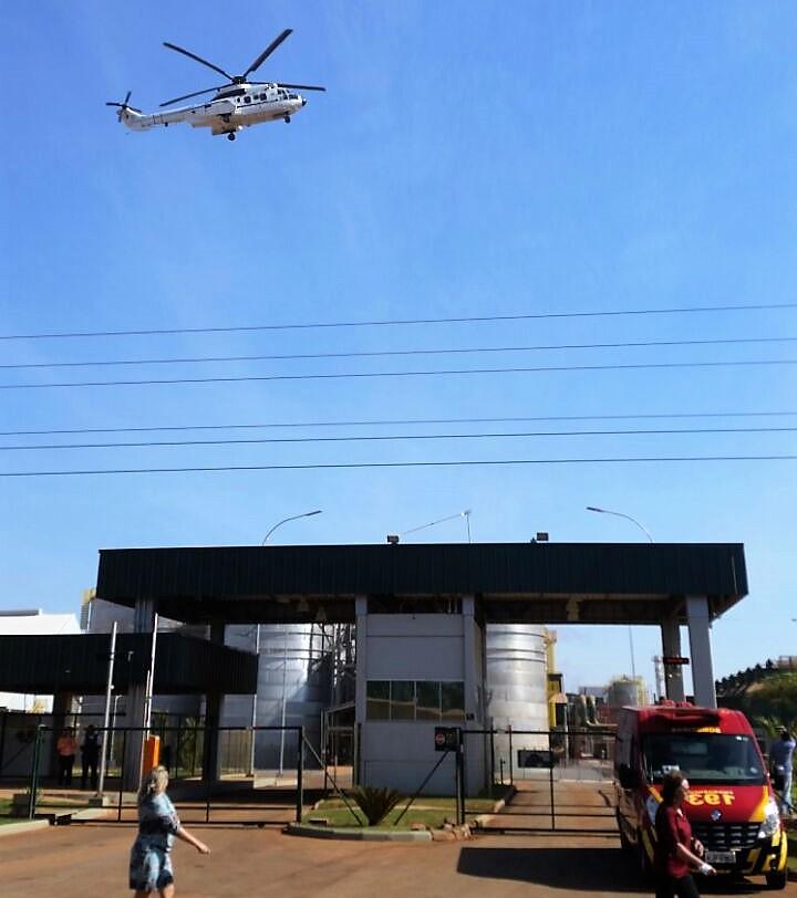 Helicóptero da presidência pousa na FS Bioenergia