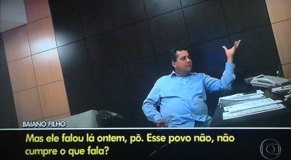 Baiano Filho reclama para Sílvio Corrêa