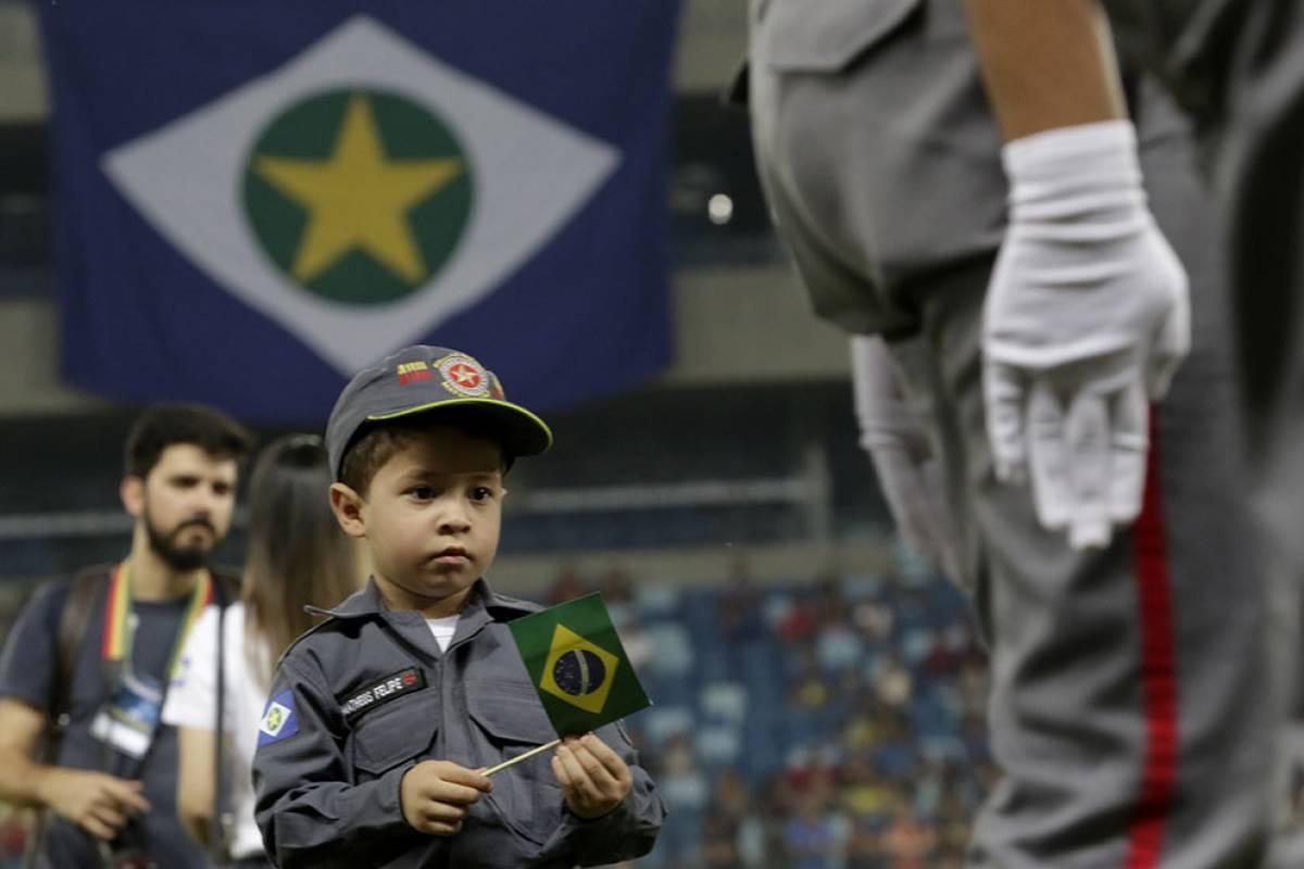 Desfile cívico em comemoração ao Dia da Independência do Brasil, na Arena Pantanal-Cuiabá/MT. (Ednilson Aguiar/O Livre) - Ednilson Aguiar/O Livre)