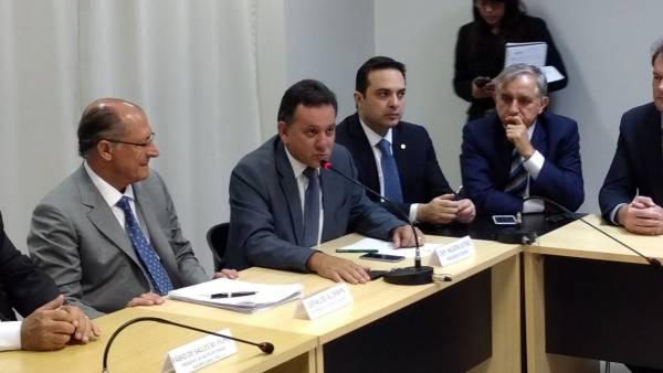 Nilson Leitão e Geraldo Alckmin