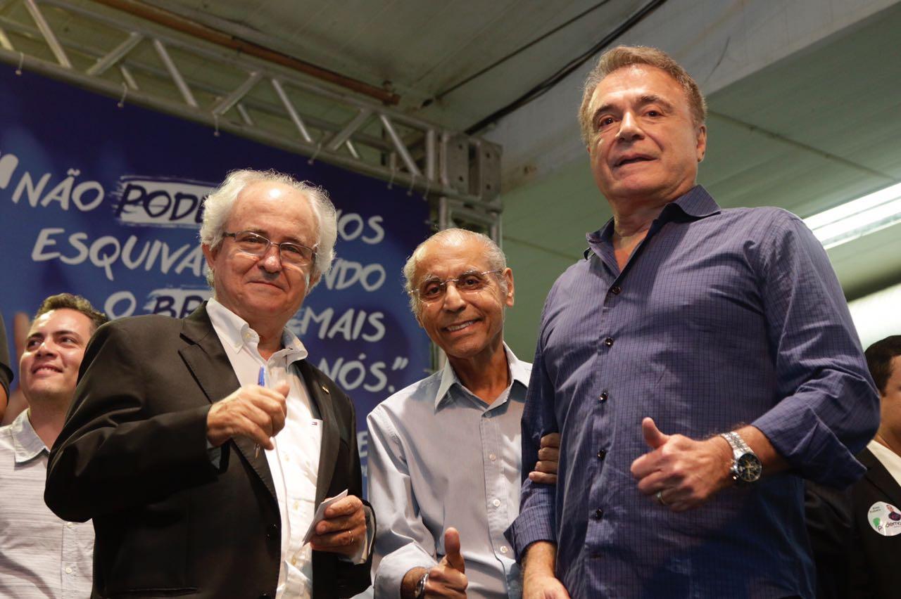 Alvaro Dias, Adilton Sachetti, Julio Campos