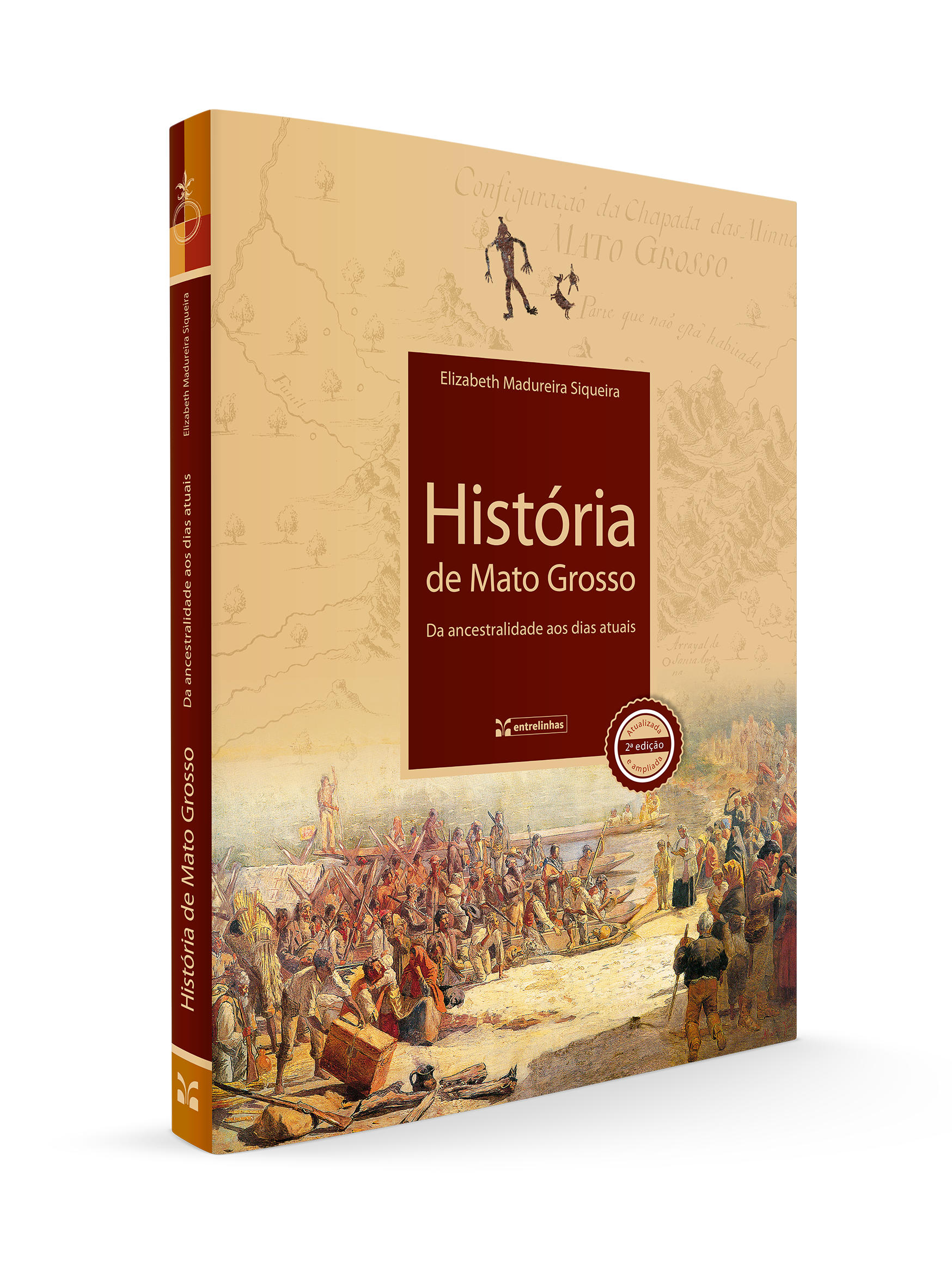 mockup história de MT livro
