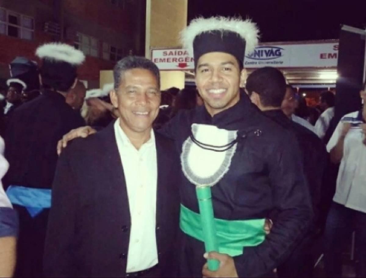 Vereador Nilo Campos e filho