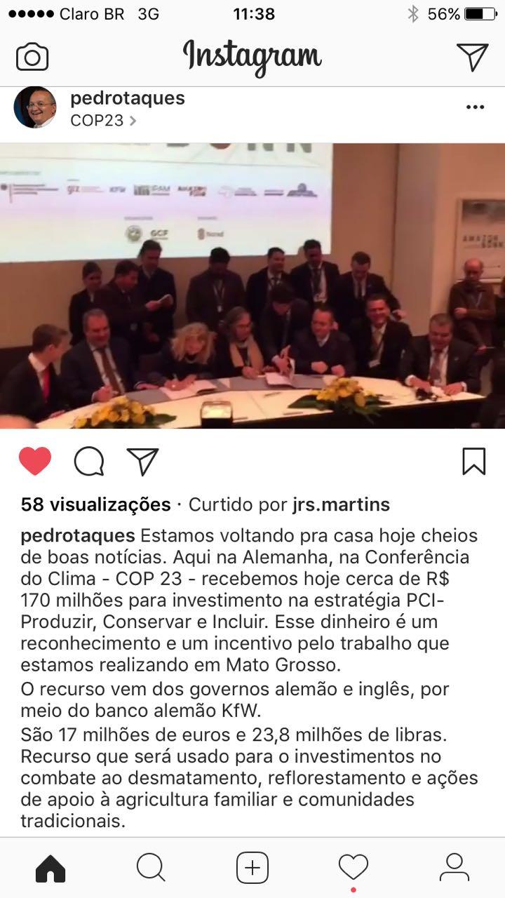 Pedro Taques COP 23