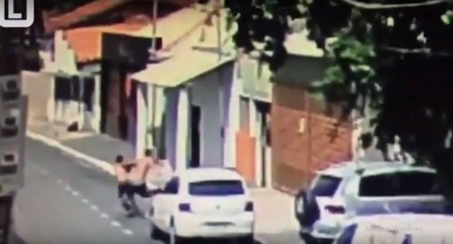 Câmera flagrou tentativa de assalto a Bar do Jorge