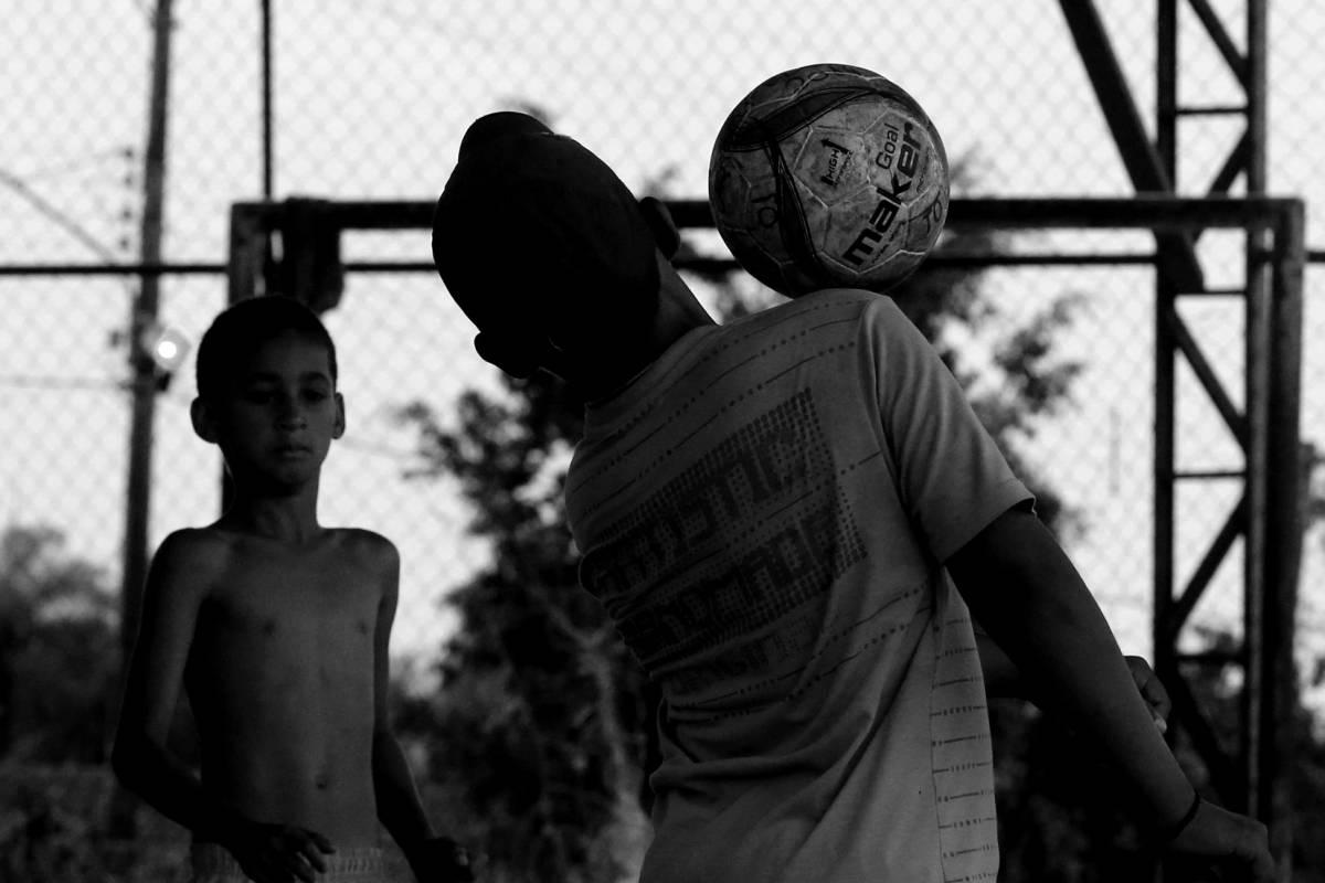 Crianças compartilham sonhos por meio do esporte (Ednilson Aguiar/O Livre) - Ednilson Aguiar/O Livre