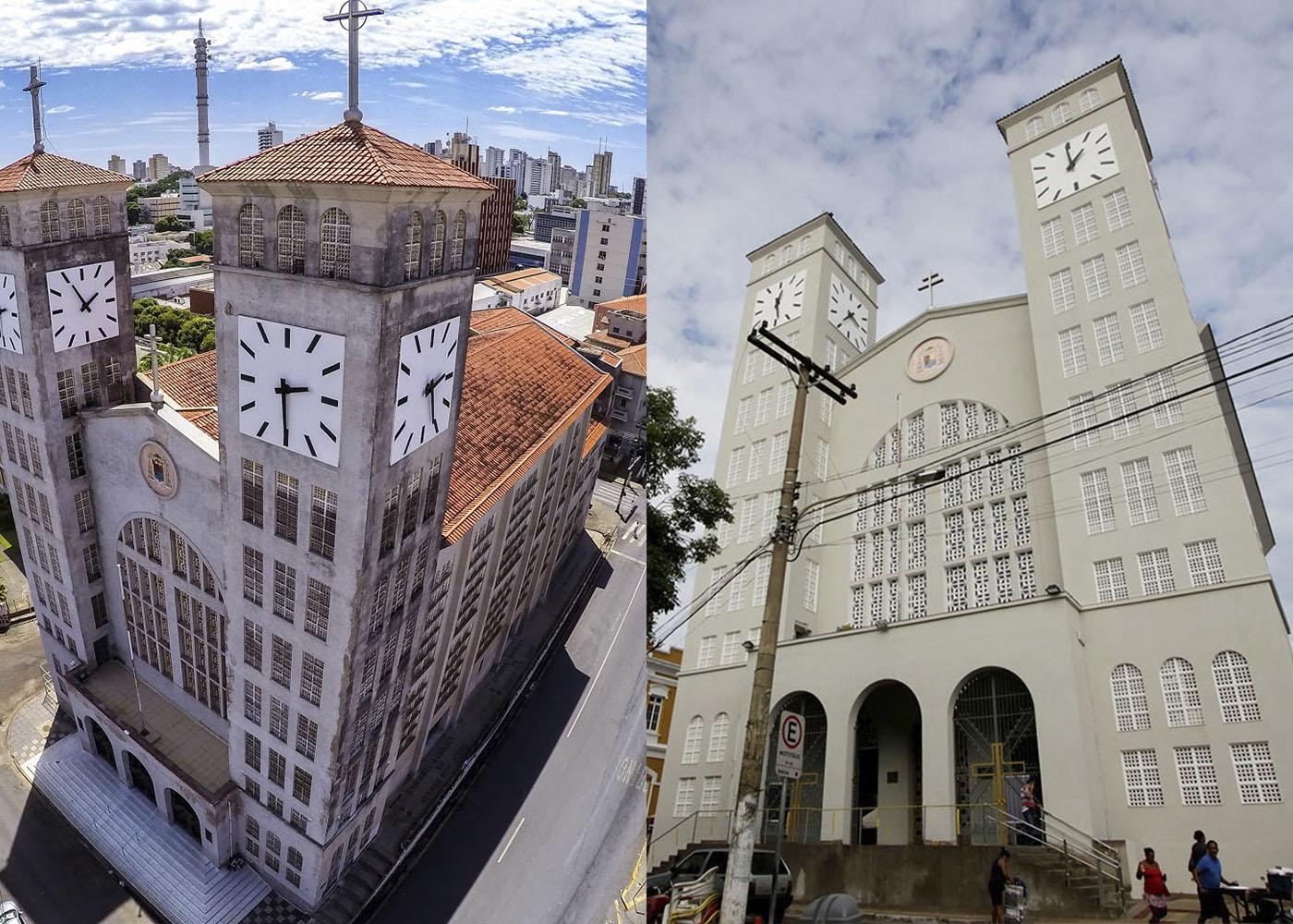 catedral antes e depois