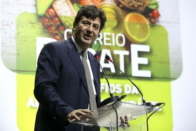 O ministro da Saúde, Luiz Henrique Mandetta, participa da abertura do Correio Debate Doenças Crônicas não Transmissíveis relacionadas à alimentação não saudável: Câncer, Obesidade, Diabetes, Hipertensão.